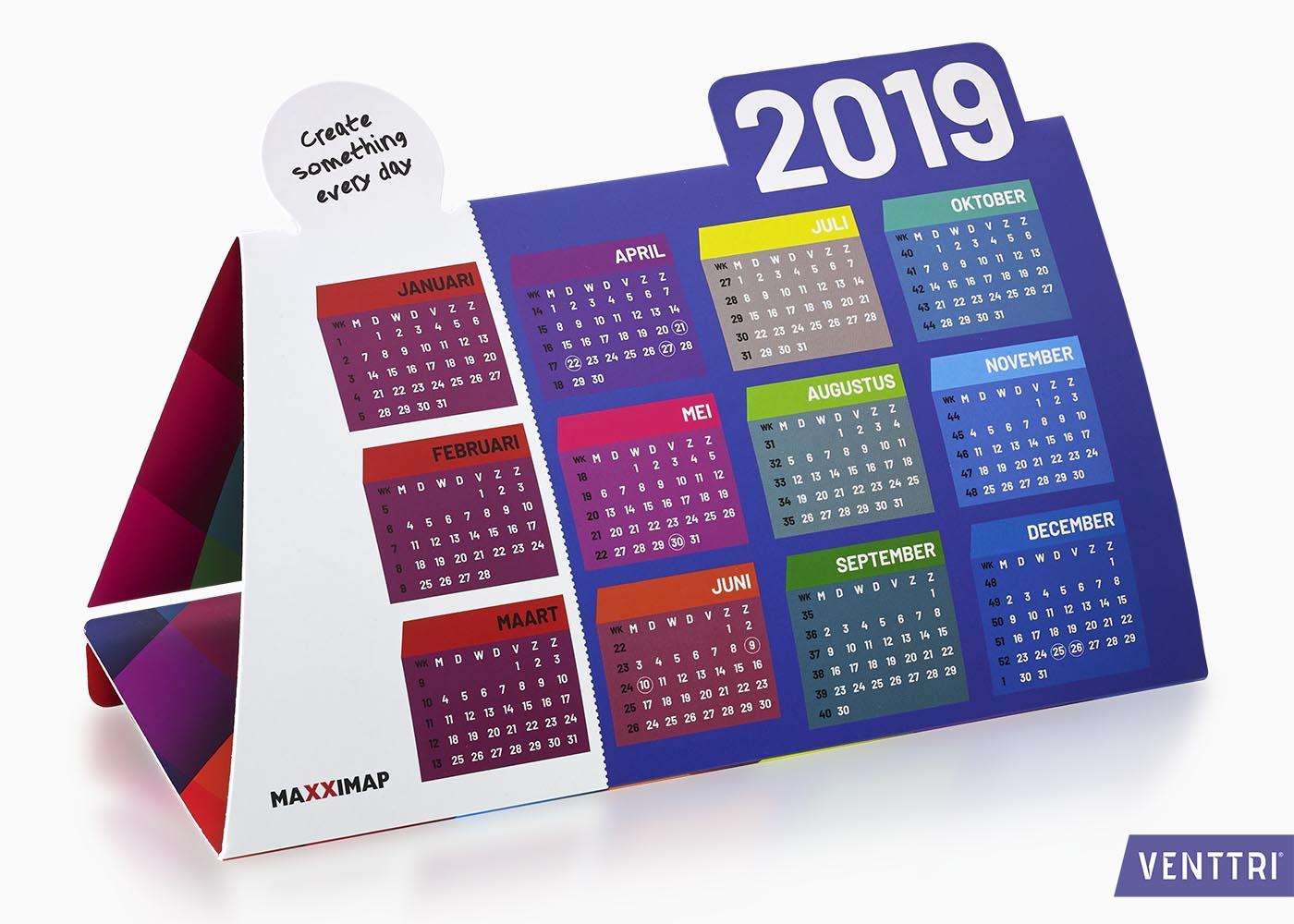 Kleurrijke kalender 2019 1